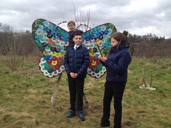 Art Oasis Llogy butterfly sculpture copyright MWT
