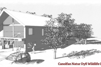 Artists impression of the Dyfi Wildlife Centre