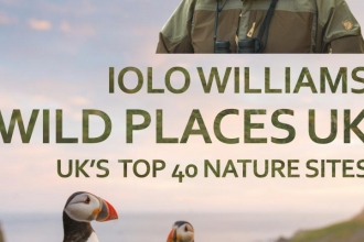 Iolo Williams book Wild Places UK: UK's Top 40 Nature Sites cover photo