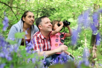 People and bluebells copyright Tom Marshall