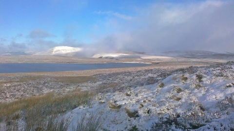 Glaslyn in the snow