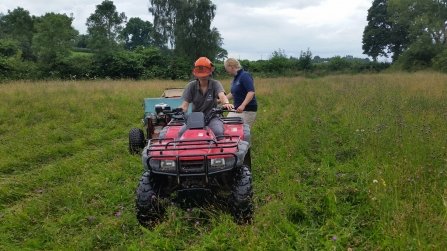 Harvesting meadow seed at Ty Brith Nature Reserve
