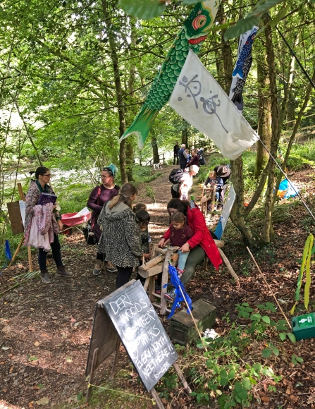 100 year celebration event at Deri Woods copyright Montgomeryshire Wildlife Trust