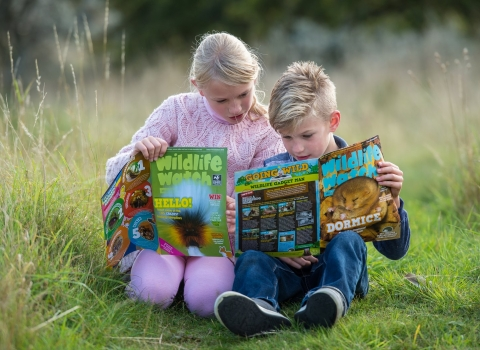 Children with Wildlife Watch copyright Matthew Roberts